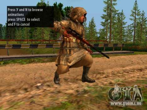 Soviétique Sniper pour GTA San Andreas huitième écran