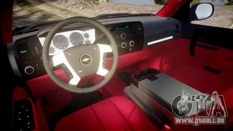 Chevrolet Silverado 1500 LT Extended Cab wheels3 pour GTA 4 Vue arrière