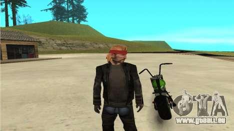 Zombie pour GTA San Andreas sur la vue arrière gauche