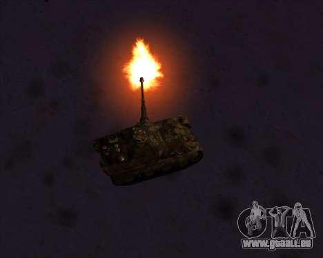 Pz.Kpfw. V Panther II Desert Camo pour GTA San Andreas vue de dessous