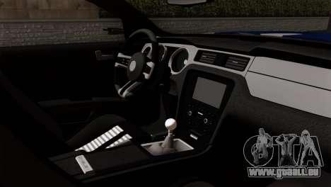 Ford Shelby 2014 pour GTA San Andreas sur la vue arrière gauche