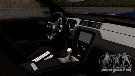 Ford Shelby 2014 für GTA San Andreas zurück linke Ansicht