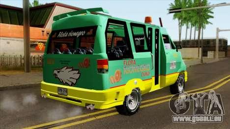Toyota Microbus v2 pour GTA San Andreas laissé vue