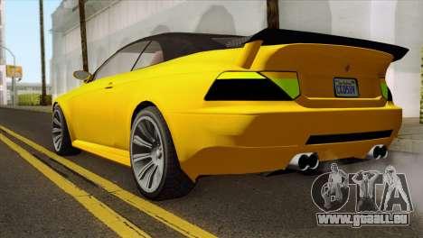 GTA 5 Ubermacht Zion XS Cabrio für GTA San Andreas linke Ansicht