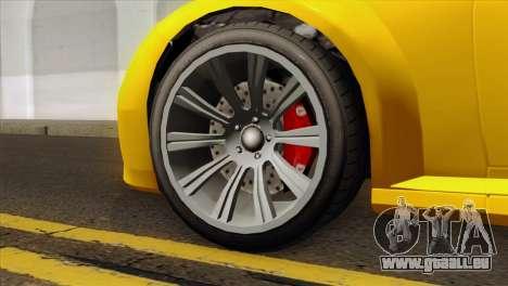 GTA 5 Ubermacht Zion XS Cabrio für GTA San Andreas zurück linke Ansicht