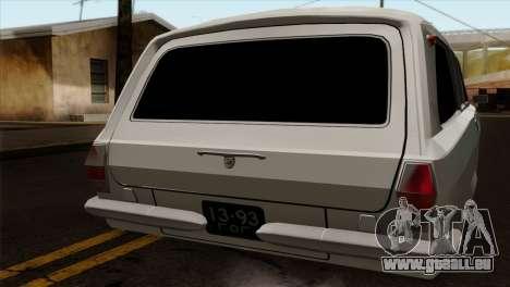 GAZ 2420 pour GTA San Andreas sur la vue arrière gauche
