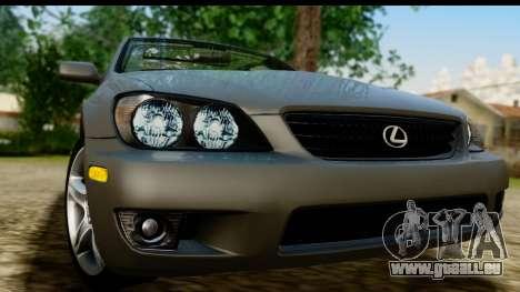 Lexus IS300 Tunable pour GTA San Andreas sur la vue arrière gauche