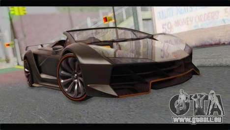 GTA 5 Pegassi Zentorno Spider pour GTA San Andreas