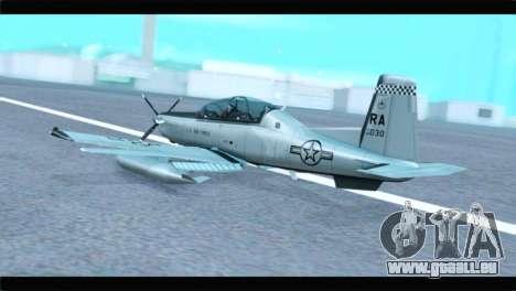 Beechcraft T-6 Texan II US Air Force 4 für GTA San Andreas linke Ansicht