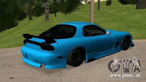 Mazda RX-7 pour GTA San Andreas sur la vue arrière gauche