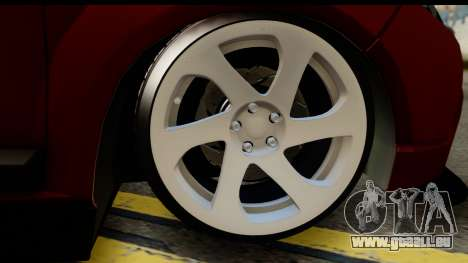 Dacia Sandero Low Tuning für GTA San Andreas zurück linke Ansicht