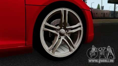 Audi R8 v2 pour GTA San Andreas sur la vue arrière gauche