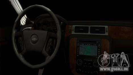 Chevrolet Suburban Plateada pour GTA San Andreas vue de droite