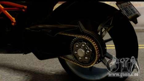 Ducati Diavel 2012 pour GTA San Andreas vue intérieure