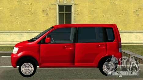 Mitsubishi eK Wagon pour GTA San Andreas laissé vue