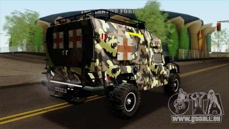 HMMWV M997 Ambulance pour GTA San Andreas laissé vue