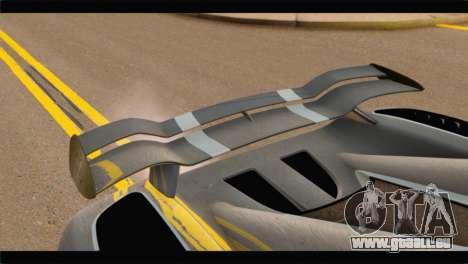 Koenigsegg Agera R 2011 Stock Version pour GTA San Andreas vue arrière