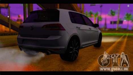 Volkswagen Golf 7 pour GTA San Andreas laissé vue