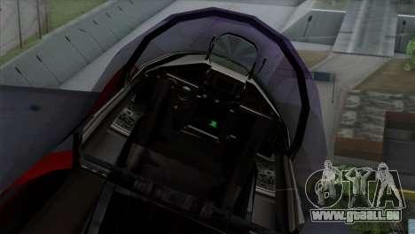 Eurofighter Typhoon 2000 pour GTA San Andreas vue arrière