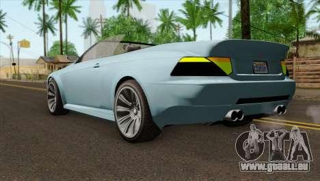 GTA 5 Ubermacht Zion XS Cabrio IVF pour GTA San Andreas laissé vue