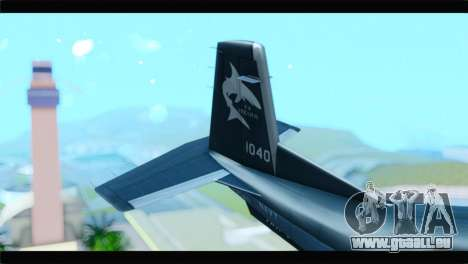Beechcraft T-6 Texan II United States Navy 2 pour GTA San Andreas sur la vue arrière gauche