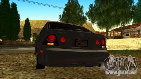 Lexus IS300 Tunable pour GTA San Andreas vue de côté