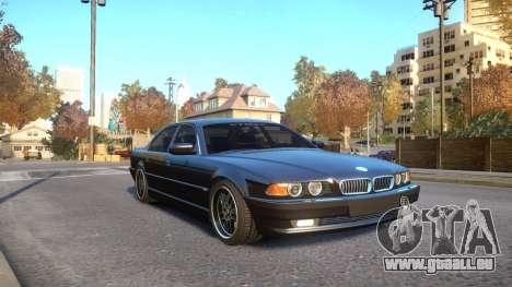 BMW 750i e38 1994 Final für GTA 4 Rückansicht