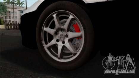 Honda NSX Police Car pour GTA San Andreas sur la vue arrière gauche