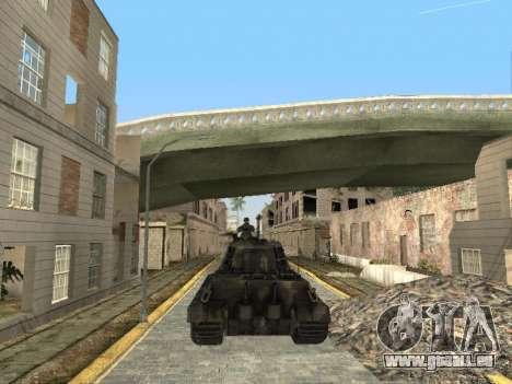 Panzerkampfwagen Tiger II pour GTA San Andreas vue de dessus
