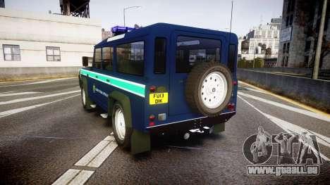 Land Rover Defender Policia GNR [ELS] pour GTA 4 Vue arrière de la gauche