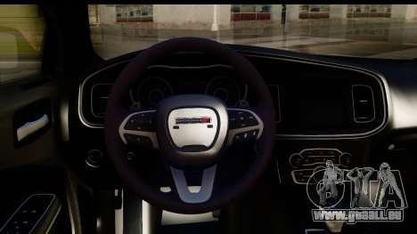 Dodge Charger RT 2015 pour GTA San Andreas vue intérieure