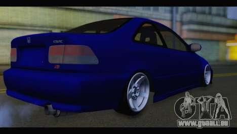 Honda Civic pour GTA San Andreas laissé vue