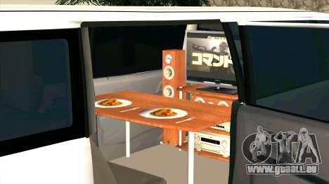 Mitsubishi EK Wagon Limo pour GTA San Andreas vue intérieure