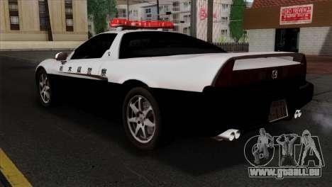 Honda NSX Police Car pour GTA San Andreas laissé vue