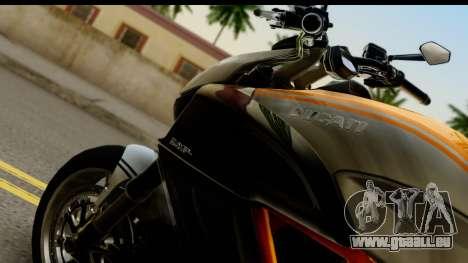 Ducati Diavel 2012 pour GTA San Andreas vue de droite
