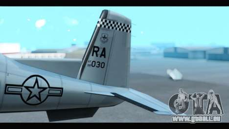 Beechcraft T-6 Texan II US Air Force 3 für GTA San Andreas zurück linke Ansicht