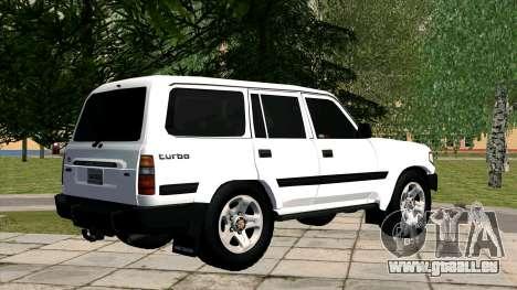 Toyota Land Cruiser 80 pour GTA San Andreas laissé vue