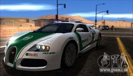 Bugatti Veyron 16.4 La Police De Dubaï 2009 pour GTA San Andreas laissé vue