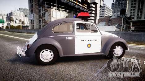 Volkswagen Fusca 1980 Military Police Sao Paulo für GTA 4 linke Ansicht