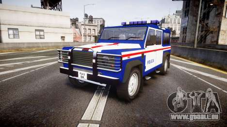 Land Rover Defender Policia PSP [ELS] für GTA 4
