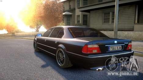 BMW 750i e38 1994 Final für GTA 4 hinten links Ansicht