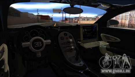 Bugatti Veyron 16.4 La Police De Dubaï 2009 pour GTA San Andreas vue arrière