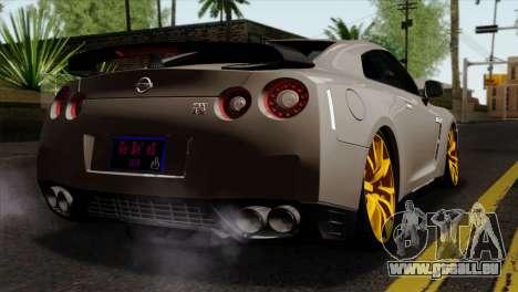 Nissan GT-R R35 2012 für GTA San Andreas linke Ansicht