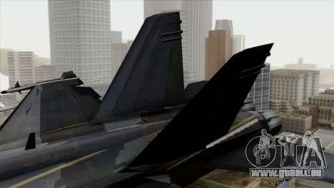 FA-18 HARV pour GTA San Andreas sur la vue arrière gauche
