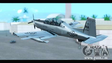 Beechcraft T-6 Texan II US Air Force 3 für GTA San Andreas linke Ansicht