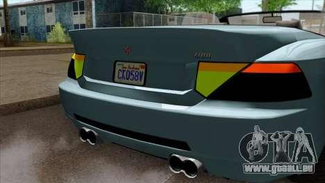 GTA 5 Ubermacht Zion XS Cabrio IVF pour GTA San Andreas vue arrière
