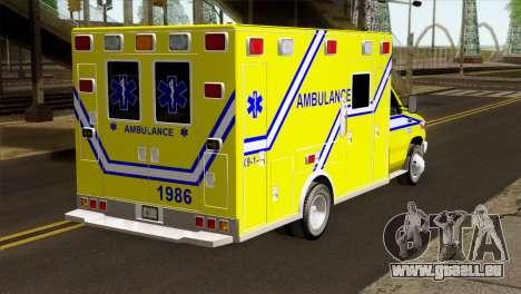 Ford F-450 2014 Quebec Ambulance pour GTA San Andreas laissé vue