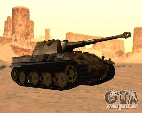 Pz.Kpfw. V Panther II Desert Camo pour GTA San Andreas vue intérieure