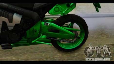 Honda CBR1000RR für GTA San Andreas Rückansicht