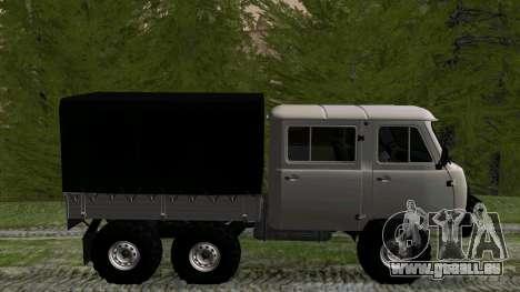 UAZ 39094 6X6 Dream hunter für GTA San Andreas linke Ansicht